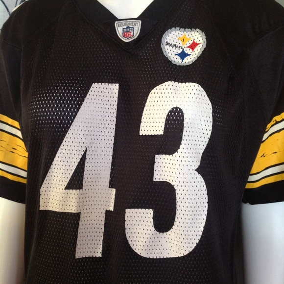 Nice Reebok Tops | Nfl Steelers Jersey 43 Polamalu | Poshmark  hot sale